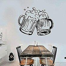 Bière Verre Bar pub Autocollant Vinyle Amovible
