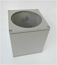BIG THEO,plafonnier carré gris argent QPAR111