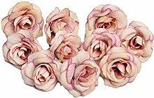 BIGBOBA 50PCS Roses artificielles Fleurs