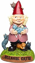 BigMouth Inc The Crazy Cat Lady Nain de Jardin