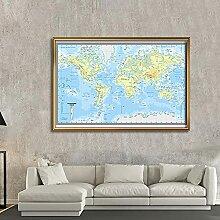 BIGSHOPART Carte du Monde topographique espagnole