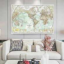 BIGSHOPART La Carte du Monde en 1957 Affiche