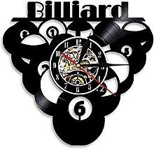 Billard Piscine Design Horloge Murale Rétro