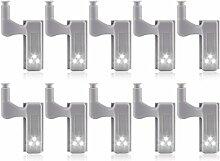 Binchil Lot de 10 lampes LED à charnière pour