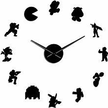 BINGTANGXUELI Co.,ltd Horloge Murale Rétro Jeu