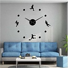 BINGTANGXUELI Co.,ltd Horloge Murale Rugby Sports