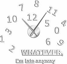 BINGTANGXUELI Co.,ltd Horloge Murale sans Cadre
