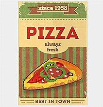 Bingyingne Pizza Art Affiche Nostalgique Vintage