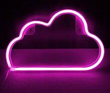Bipily Enseigne au néon en forme de nuage LED