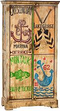 Biscottini - Armoire de rangement marin en bois
