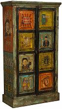 Biscottini - Cabinet en bois massif peint à la
