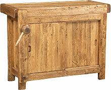 Biscottini - Etabli rustique style bois massif de