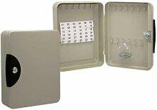 Bismark Boîte de Rangement métallique 24 clés