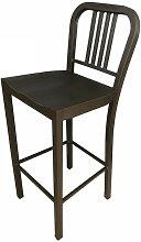BISTRO - Chaise de bar en acier