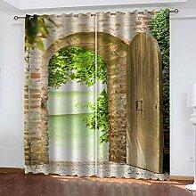 BKTTDS Rideau Salon Occultant Moderne - 3D Arches