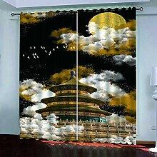 BKTTDS Rideau Salon Occultant Moderne - 3D Le