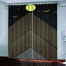 BKTTDS Rideau Salon Occultant Moderne - 3D Oiseau