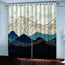 BKTTDS Rideau Salon Occultant Moderne - 3D Paysage