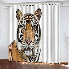 BKTTDS Rideau Salon Occultant Moderne - 3D Tigre