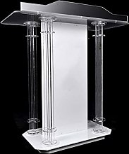 BKWJ Pupitre de Podium Transparent en Acrylique,