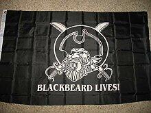 Blackbeard Lives Pirate Flag Ship Banner Fanion
