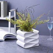 Blanc Céramique Cache-pot Jardinière,Moderne