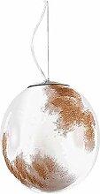 Blanc Marron Ombre De Lampe Acrylique,Style Lune