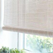 Blanc Store Enrouleur Bambou,Rideau Occultant en