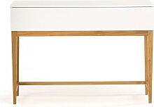 Blanco - Console rangement nordique 1 tiroir