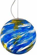 Bleu Ombre De Lampe Acrylique,Style Terre Lustres