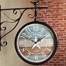 BLKJ Vivre Nostalgie Gare Horloge auBenbereich,
