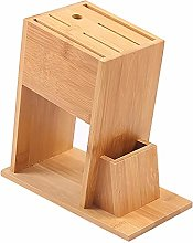 Bloc de couteaux en bambou, 7 compartiments pour