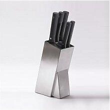 Bloc universel en inox avec 5 couteaux Mill Pradel