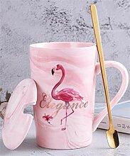 BLUE CHARM Mark Cup Céramique Flamingo Café Thé