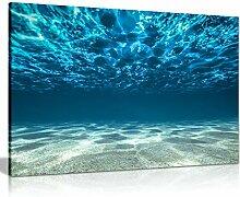 Blue Ocean Sea Vue sur la mer sous la surface de
