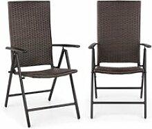 Blumfeldt estoril lot de 2 chaise de jardin