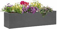 Blumfeldt Solidflor - Bac à fleurs, 75 x 20 x 20