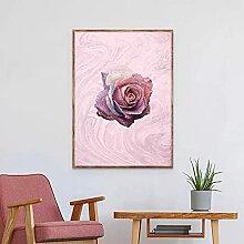 Blush Rose Rose Art Toile Impression Français