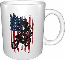 Bmx Bike Usa Flag Us Bright Multi Grandes Tasses