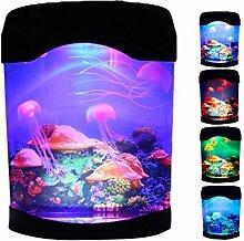 BNNEW Lampe méduses - Lampe LED fantaisie - Pour