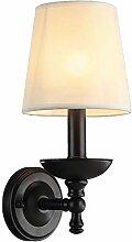 boaber Lampe de chevet antique créative en fer