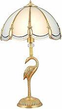 boaber Lampe de table en laiton pour chambre à