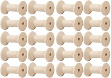 Bobines de fil en bois 20x, bobines de fil vide,