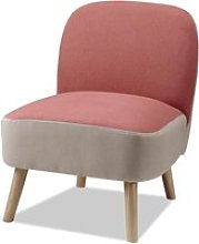 Bobochic fauteuil beverly rose