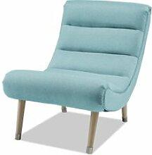 Bobochic fauteuil stavanger bleu