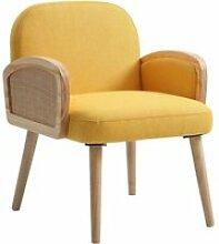 Bobochic fauteuil surabaya jaune