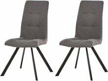 Bobochic lot de 2 chaises de table lule gris