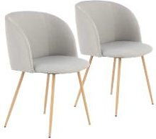 BOBOCHIC Lot de 2 chaises de table RANIA Gris