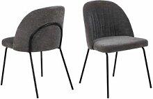 BOBOCHIC Lot de 2 chaises de table SONIA gris