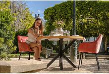 Bobochic - Table à manger 120cm LUNA noir et